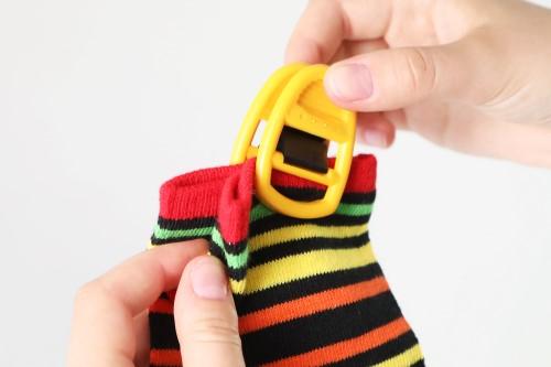 Socken zusammen klammern mit Clipso