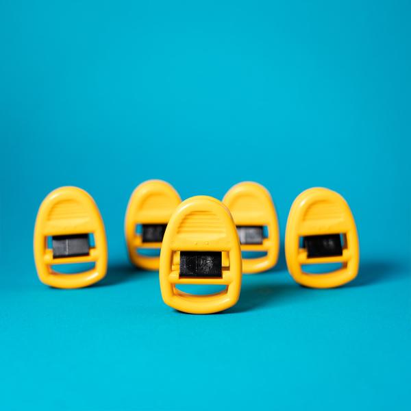 Clipso Sockenklammern 5er Set gelb