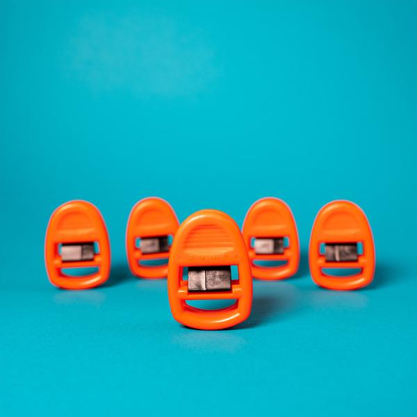 Clipso Sockenklammern 5er Set orange